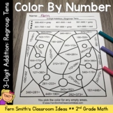 2nd Grade Go Math 6.4 3-Digit Addition: Regroup Tens Color By Numbers