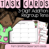 2nd Grade Go Math 6.4 3-Digit Addition: Regroup Tens Task Cards