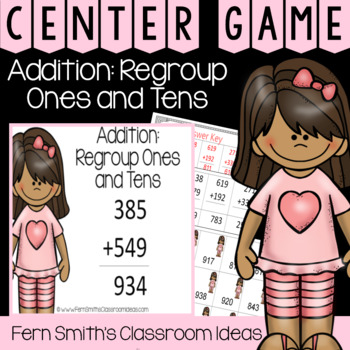 2nd Grade Go Math 6.5 Addition: Regroup Ones and Tens Center Games