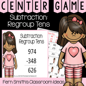 2nd Grade Go Math 6.7 Subtraction: Regroup Ones Center Games