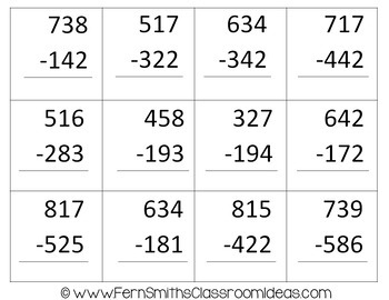 2nd Grade Go Math 6.8 Subtraction: Regroup Tens Bundle