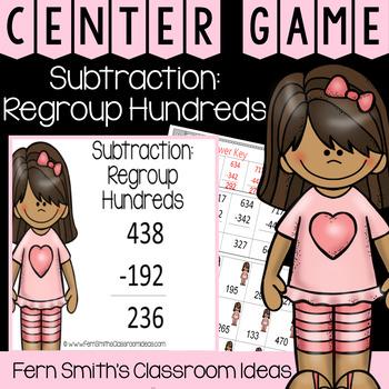 2nd Grade Go Math 6.8 Subtraction: Regroup Tens Center Games