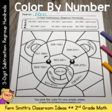 2nd Grade Go Math 6.8 Subtraction: Regroup Tens Color By Numbers