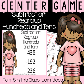 2nd Grade Go Math 6.9 Subtraction: Regroup Hundreds and Tens Center Games