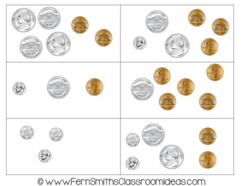 2nd Grade Go Math 7.1 Dimes, Nickels, and Pennies Bundle