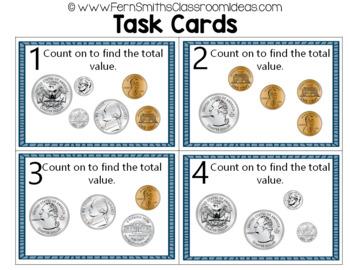 2nd Grade Go Math 7.2 Quarters Task Cards