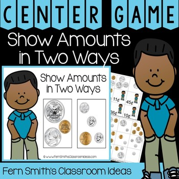 2nd Grade Go Math 7.4 Show Amounts in Two Ways Center Games