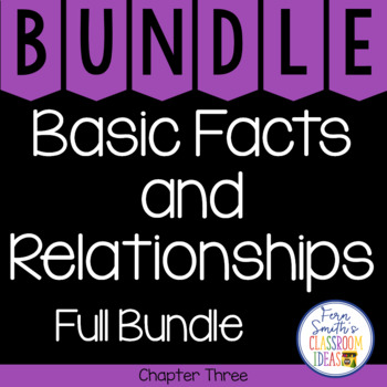 2nd Grade Go Math Chapter 3 Basic Facts and Relationships Bundle