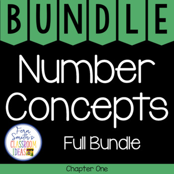 2nd Grade Go Math Number Concepts Chapter 1 Bundle