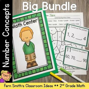 2nd Grade Go Math Chapter 1 Number Concepts Bundle