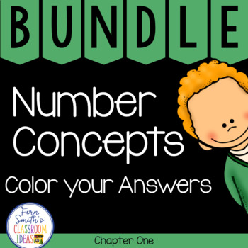 2nd Grade Go Math Chapter 1 Number Concepts Color your Answers Bundle