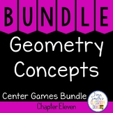 2nd Grade Go Math Chapter 11 Geometry Concepts Center Games Bundle