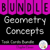 2nd Grade Go Math Chapter 11 Geometry Concepts Task Cards Bundle