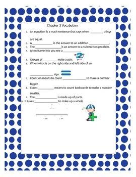 2nd Grade Go Math, Chapter 3 Cloze Activity-Interactive Notebook