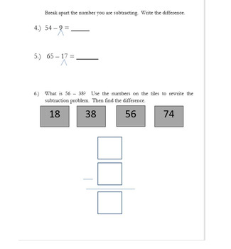 2nd Grade Go Math Chapter 5 Practice Test with Answer ...