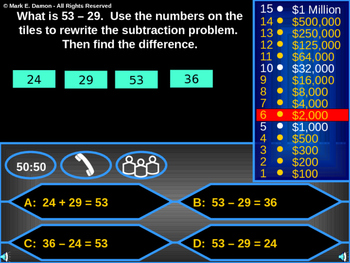 2nd Grade Go Math Chapter 5 Review Game - 2-Digit Subtraction