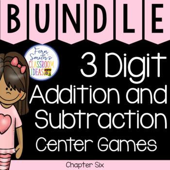 2nd Grade Go Math Chapter 6 Center Games Bundle