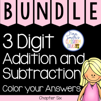 2nd Grade Go Math Chapter 6 Color your Answers Bundle
