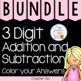 2nd Grade Go Math Chapter 6 Color By Numbers Bundle