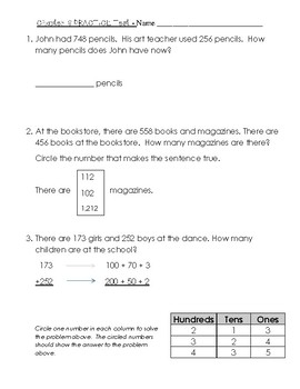 image regarding 2nd Grade Math Test Printable titled 2nd Quality Move Math Chapter 6 Coach Check with Resolution Sheet
