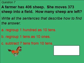 2nd Grade Go Math Chapter 6 Review Game - 3-digit addition and subtraction