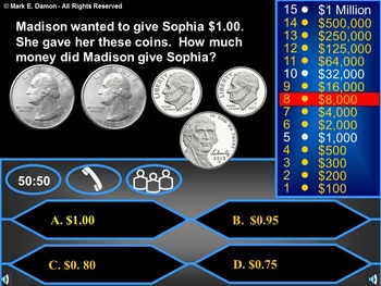 2nd Grade Go Math Chapter 7 Review Game - Money and Time