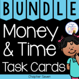 2nd Grade Go Math Chapter 7 Money and Time Task Cards Bundle