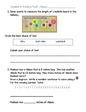 2nd Grade Go Math Chapter 8 Practice Test with Answer Sheet