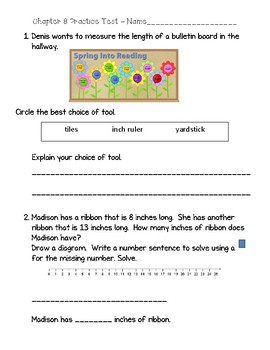 Go math chapter 8 test teaching resources teachers pay teachers 2nd grade go math chapter 8 practice test with answer sheet fandeluxe Image collections