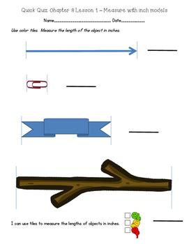 2nd Grade Go Math Chapter 8 Quick Quizzes