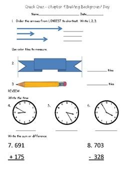 2nd Grade Go Math Chapter 9 Quick Quizzes