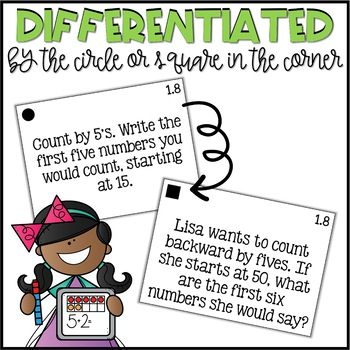 Second Grade Go Math Differentiated Math Journal Prompts - Ch. 1