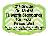 2nd Grade Go Math! - FL Math Standards - ALL Chapters - Focus Wall
