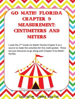 2nd Grade Go Math! Florida Chapter 9:  Centimeters and Meters
