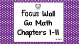 2nd Grade Go Math Focus wall Florida