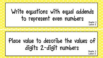 2nd Grade Go Math Focus wall Florida