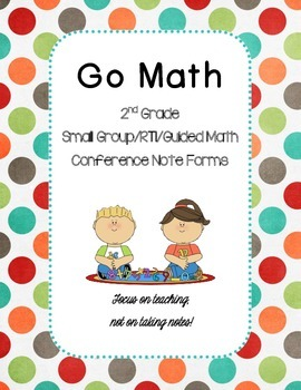 2nd Grade Go Math Guided/Small Group/RTI Math Note Sheet