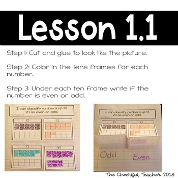 2nd Grade Go Math! Interactive Notebook: Chapter 1 ~ Common Core