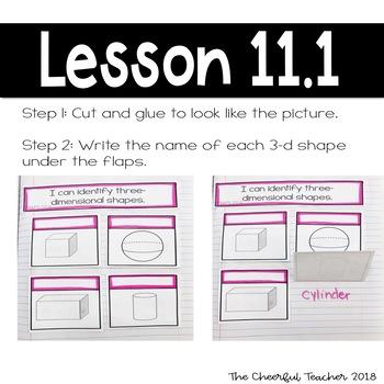 2nd Grade Go Math! Interactive Notebook: Chapter 11 ~ Florida Standards