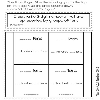 2nd Grade Go Math! Interactive Notebook: Chapter 2 ~ Florida Standards