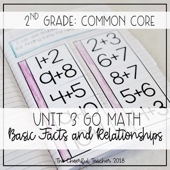2nd Grade Go Math! Interactive Notebook: Chapter 3 ~ Common Core