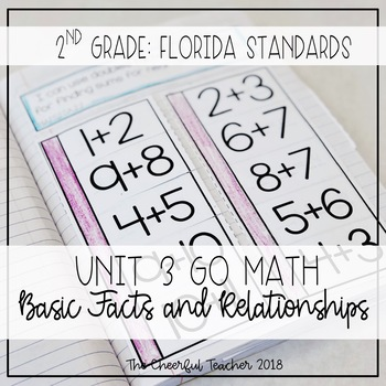 Go Math FLORIDA 2nd Grade Interactive Notebook Chapter 3