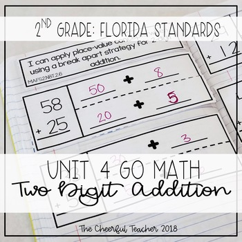 2nd Grade Go Math! Interactive Notebook: Chapter 4 ~ Florida Standards