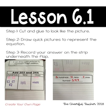 2nd Grade Go Math! Interactive Notebook: Chapter 6 ~ Common Core