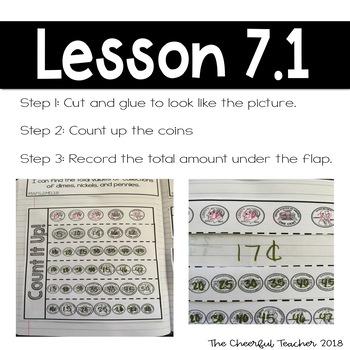 2nd Grade Go Math! Interactive Notebook: Chapter 7 ~ Florida Standards