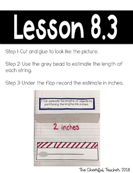 2nd Grade Go Math! Interactive Notebook: Chapter 8 ~ Common Core
