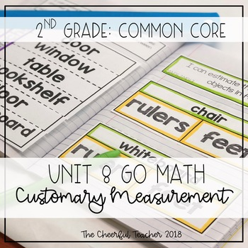 Go Math! COMMON CORE 2nd Grade Interactive Notebook: Chapter 8