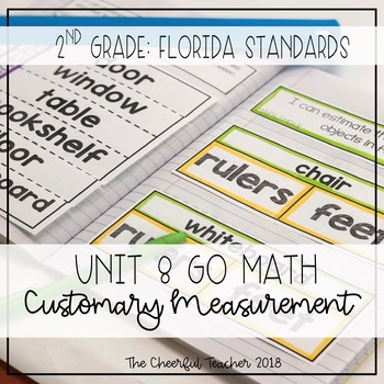 2nd Grade Go Math! Interactive Notebook: Chapter 8 ~ Florida Standards