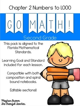 2nd Grade Go Math! Interactive Notebook Common Core Bundle