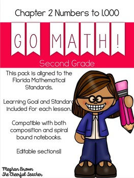 2nd Grade Go Math! Interactive Notebook Florida Standards Bundle